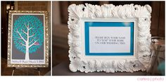 Another wedding tree guest book alternative in action! Beautiful photos by: carleajphotography.com