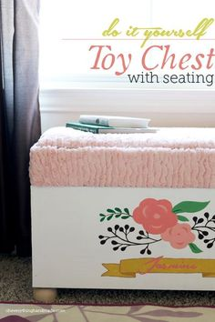DIY // Toy Chest with Seating | Oh Everything Handmade #toystorage #toychest #woodwork #build #handmade #painted #DIY #Tutorial #oheverythinghandmade