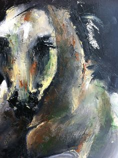 Painted horse - abstract oil on canvas.