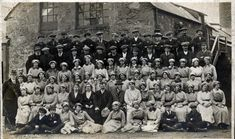 The staff of Walker's Sawmill, Shore Street, Inverness, 1915 Inverness, Highlands, Scotland, Photo Wall, Street, Photograph, Walkway