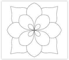 flower free hand embroidery pattern