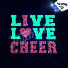 Beautiful Wholesale Hot Fix Live Love Cheer Glitter Rhinestone Design For  Clothing