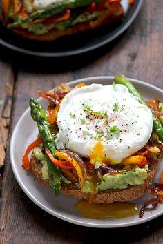 Smashed Avocado Toast + Veggies   Simple Green Moms Recipes