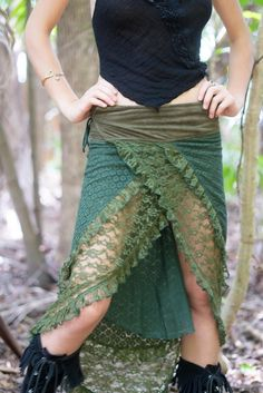 Women Gypsy Skirt, Tribal Skirt, Steampunk Clothing, Burning Man Skirt, Wrap Skirt, Festival Skirt, Steampunk Skirt, Lace Skirt, Pixie Skirt #skirt #gypsyskirt #wrapskirt #pixieskirt #fashionoutfits #outfitideas #burningman #steampunk