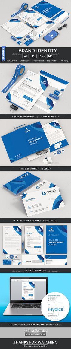 Corporate Stationary, Corporate Identity, Brand Identity, Branding, Presentation Folder, Letterhead, Brand Management, Visual Identity