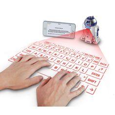 The R2D2 Virtual Keyboard - Hammacher Schlemmer #HammacherHolidays