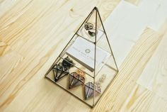 Piramide van sieraden doos / geometrische glazen door MuditaCrafts