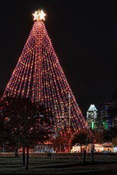 Zilker Park Christmas Tree - Austin, Texas USA