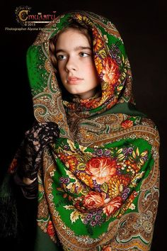 Uzbek ikat silk, rug pillows and Russian shawls by MulberryWhisper Russian Beauty, Russian Fashion, Beautiful Children, Beautiful People, Beautiful Women, Photographie Portrait Inspiration, Russian Culture, Folk Costume, Mode Vintage