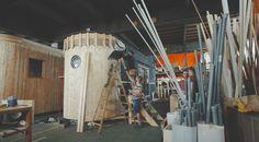 Wohnwagon Produktion / Werkstatt für Wagen - Selbstbauer Ladder, House, Sustainability, Workshop, Life, Homes, Haus, Staircases, Stairway