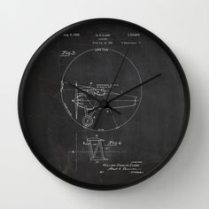 "Clock, Clock Patent, Patent Clock, Modern Clock, Airplane Clock, The original airplane patent, pilot clock by STANLEYprintHOUSE  47.00 USD  Available in natural wood, black or white frames, our 10"" diameter unique Wall Clocks feature a high-impact plexiglass crystal face and a backside hook for easy hanging. Choose black or white hands to match your wall clock frame and art design choice. Clock sits 1.75"" deep and requi ..  https://www.etsy.com/ca/listing/242949831/clock-clock-pate.."