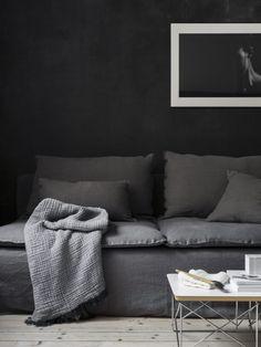 Loose fit Urban Cover, Söderhamn sofa. Styling Pella Hedeby, Photographer Sara Medina Lind