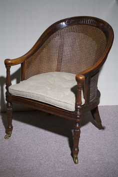 Regency Bergere Chair,-english ca 1805.