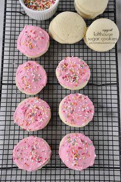 Lofthouse Copycat Sugar Cookies - the recipe for those thick, light sugar cookies with frosting & sprinkles!