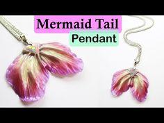 Mermaid Tail Pendant - Polymer Clay Tutorial    Maive Ferrando - YouTube