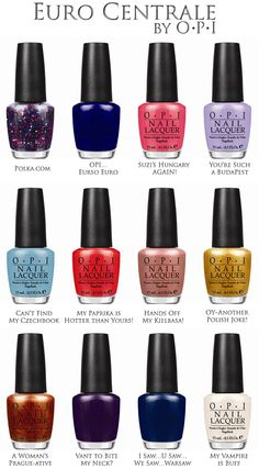 #OPI Announces the Launch of Euro Centrale for Spring Summer 2013 #nails #beauty #manicures