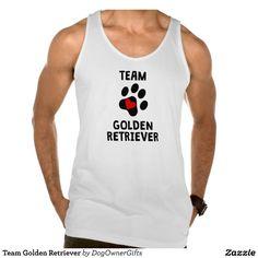 Team Golden Retriever Tank Tank Tops