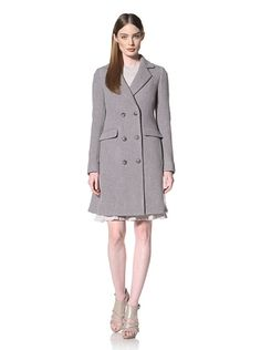 Thakoon Double Face Double Breasted Coat With Seamed Back        Fully-lined heavyweight coat features classic notched collar, 1 inner and 4 outer pockets, and tailored back pleating