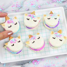 Mini Unicorn Macarons - Powered by @ultimaterecipe