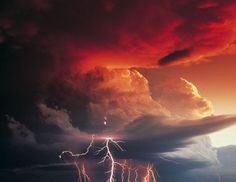 Picture of a storm over the high plains by Daniel Thomson