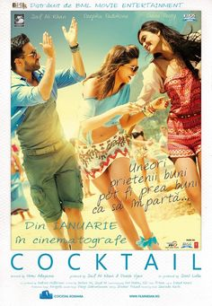 Cocktail is a Bollywood Romantic Comedy film starring Saif Ali Khan, Deepika Padukone and debutante Diana Penty in the lead roles. Latest Movies, New Movies, Good Movies, Watch Movies, Movies Free, Hindi Movies Online, Watch Free Movies Online, Dramas Online, Bollywood Movie Trailer