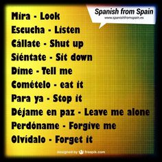 There's a rumor going around that Spanish verbs are difficult and confusing. Spanish Grammar, Spanish Phrases, Spanish Vocabulary, Spanish Words, Spanish Language Learning, English Phrases, Learn A New Language, Teaching Spanish, English Words