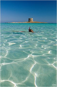 Sardinia - La Pelosa, Italy - Explore the World with Travel Nerd Nici, one Country at a Time. http://TravelNerdNici.com