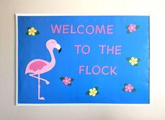 Flamingo Classroom Decor, Ready to Hang Bullein Board, Flamingo Classroom Bulletin Board, Flamingo Door Decoration, Flamingo Classroom Theme