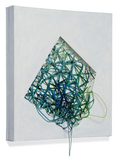 Atsuko Chirikjian, A Pentagon within, 2015. Rope, paper, stick, wire.