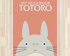 My neighbour Totoro movie poster / My neighbor Totoro art print