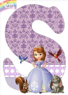 Letra S  Princess Sofia disney