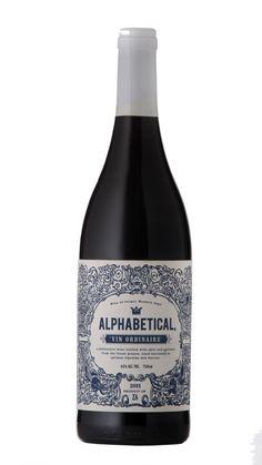 Alphabetical 2012 Design firm: Owl & Vine Brands #wine #packaging #SouthAfrica
