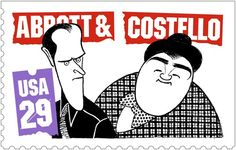 MEMORIAL POSTAGE STAMP - Bud Abbott & Lou Costello - USA