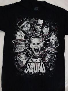 Suicide Squad Harley Quinn Joker Killer Croc Shattered Glass Dc Comics T-Shirt #SuicideSquadHarleyQuinn #GraphicTee