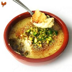 A great recipe from Pastry Master Pierre Hermé, for a creamy custard based Creme brulée and Pistachio lovers
