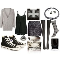 Converse chic, created by lil-mexico-009 on Polyvore