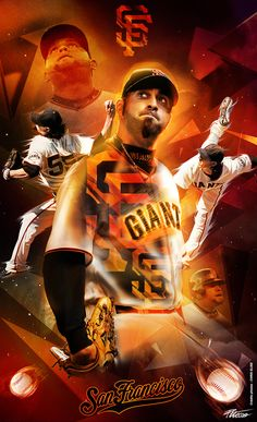 San Francisco Giants - Poster by Caroline Blanchet, via Behance