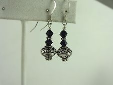 Vintage Sterling Silver Native American Dangle Earring