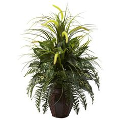 Nearly Natural Nearly Natural Floor Plant in Planter & Reviews | Wayfair
