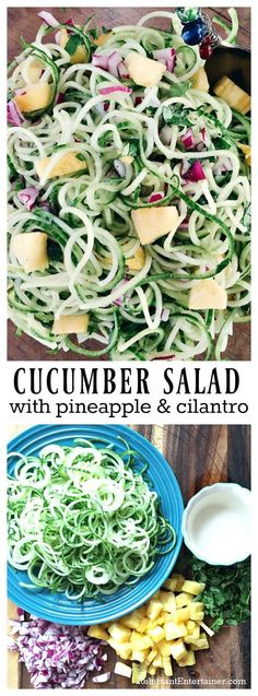 Cucumber Salad Recipe with Pineapple & Cilantro
