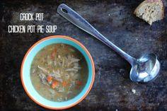 Slow Cooker Chicken Pot Pie Soup, Stove Top Option