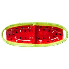 Dinnerware : DII Juicy Watermelon Ceramic Platter - 2-Section