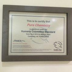 Acabamos de recibir nuestra certificación #crueltyfree @leapingbunnyprogram para continuar con el compromiso de #noanimaltesting #libresdecrueldad porque las cosas hay que probarlas #purechemistry #medellin #colombia