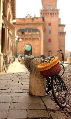 """Italy ~ """"Ferrara, """"La Citta della Bicicletta"""" Italy Emilia Romagna"""