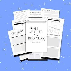 Mini Business Workbook | Track Goals, Income/Expenses + Much More!