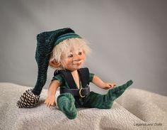 Little goblin boy BJD doll. Art doll, ooak. Full body porcelain ball jointed doll by LegendLand Dolls