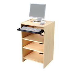"""Paragon Furniture Computer Station Carrel w/ One Adjustable Shelf by Paragon Furniture. $390.99. Assembly: Required. Number of Shelves: 1 adjustable shelf, 1 fixed shelf and a keyboard tray. Width: 23 1/2"""". Warranty: Lifetime structural warranty; 5-year warranty on moving parts, surfaces and finishes. Material: Thermally fused melamine w/ matching 3 mm PVC edge banding and a particleboard core. Paragon's Computer Station Carrel makes a great addition to your offic..."""