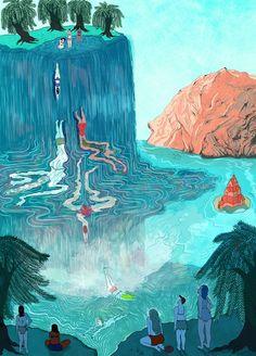 Amazing Illustration Work by Lily Padula Phenomena Art Inspo, Inspiration Art, Art Et Illustration, Art Hoe, Wow Art, Psychedelic Art, Grafik Design, Art Design, Creative Design