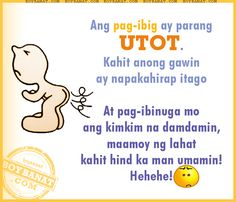 Funny Love Quotes In Tagalog Short Funny Quotes, Love Quotes Funny, Funny Quotes For Teens, Funny Quotes About Life, Love Quotes For Him, Funny Love, Best Quotes, Famous Quotes, Cynical Quotes