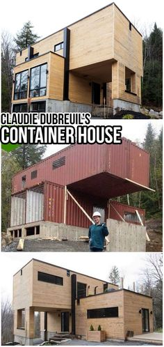 Building A Container Home, Container Buildings, Container Architecture, Modern Architecture House, Architecture Design, Futuristic Architecture, Container Garden, Sustainable Architecture, Modern Houses